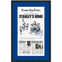 Framed Tampa Bay Times Lightning 2020 Stanley Cup Champs Newspaper 17x27 Photo