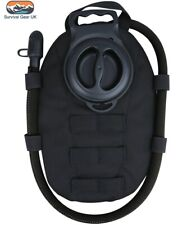 BLACK TACTICAL MOLLE AQUA BLADDER POUCH WITH 1.5 LITRE HYDRATION BLADDER