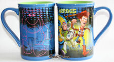 NEW Disney Store Pixar Toy Story 3 Woody Buzz Heroes Ceramic Coffee Mug Cup