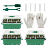 3 PIECES 12 Hole Plant Seeds Grow Box Propagation Nursery Seedling Starter Tray