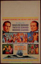 MUTINY ON THE BOUNTY MOVIE POSTER Original 14x22 Inch Window Card MARLON BRANDO