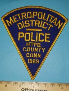 Older Hartford County Connecticut Metropolitan District Police Patch