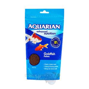 AQUARIAN GOLDFISH PELLET SINKING FLOATING MIX COLDWATER TANK AQUARIUM FISH FOOD