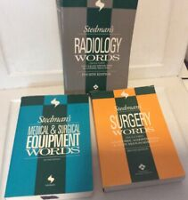 Lot of 3 Stedman's Word Books Radiology, Surgery & Equipment