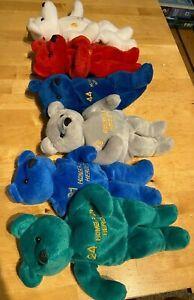 LOT of 6 Salvino's Bammers Homerun Heroes Beanie Bears: Aaron, Griffey, McGwire