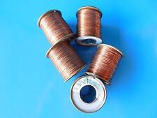 .025 COPPER WIRE, 5 SPOOLS , 5 PLUS POUNDS INCLUDES SPOOL WEIGHT, NOS