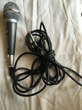 VINTAGE 60's DYNAMIC HAND  MICROPHONE STANDARD 16 FT CORD PHONE PRONG PLUG