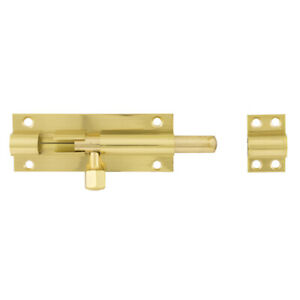 Polished Brass Barrel Bolt Straight Door Lock Bathroom Cupboard with screws