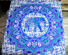 Indian Hippie Wall Elephant Hanging Mandala Tapestry Bedspread Beach Throw{8