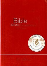 French Thompson Chain Bible, Segond 21, La Sainte Bible Red Imitation Leather