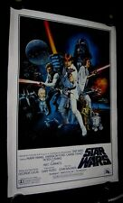 """Original 27"""" X 41"""" 1977 STAR WARS Style C Scratched Plate Version LINEN BACKED"""