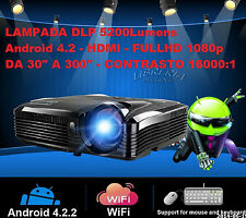 "VIDEO-PROIETTORE FULLHD ANDROID 4.2 CTR 16000 :1 4000 5200 ANSI-LUMEN 300"" DLP"
