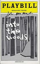 John McMartin Signed INTO THE WOODS Broadway Playbill - RARE