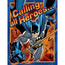 Batman Heroes and Villans Birthday Party 8 Invitations