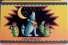 VTG Playing Card Deck Colorado CO State Coyote Cactus Souvenir SEALED Box Poker
