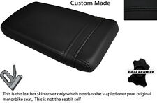 BLACK STITCH CUSTOM FITS HONDA VTR RVT 1000 RC51 SP1 REAR LEATHER SEAT COVER