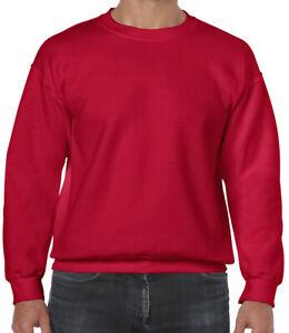 GILDAN Men's Heavy Blend Sweatshirt Round Neck Plain Jumper Pullover Casual TOP
