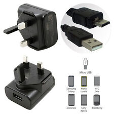 UK Mains Charger Plug + Data Cable for HTC One A9 M9 M8 M7 Desire 530 820 EYE BB
