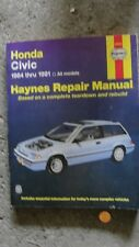 HONDA CIVIC 1984-1991 Haynes Manual V Good Condition with electrical schematics