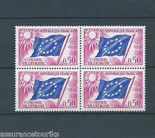 FRANCE SERVICE - 1963-71 YT 32 bloc de 4 - TIMBRES NEUFS** LUXE - 002
