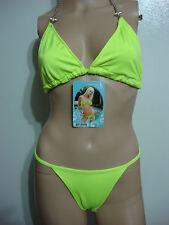 NWT Skinny Dip Chain Detail Bikini Swim Suit Yellow Size Large #31