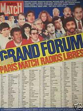 PUBLICITÉ 1987 GRAND FORUM PARIS MATCH RADIO LIBRES - ADVERTISING