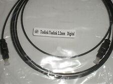 6Ft Toslink/Toslink 2.2mm Fiber Optic Digital Audio Cable 17509
