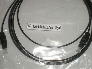 6Ft Toslink/Toslink 2.2mm Fiber Optic Digital Audio Cable 17509-*6