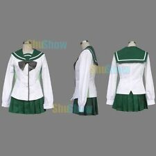 Highschool of the Dead Miyamoto Rei Cosplay Costume any size Skirt Accessory Top