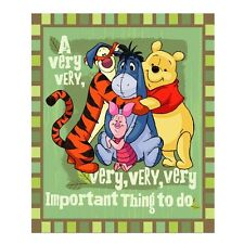 Winnie the Pooh Eeyore Piglet Tigger fleece blanket throw NEW Very Good Day