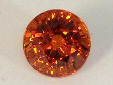 Natural Spessartite Garnet 1.47 CT. Round Bright Fanta Orange