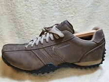 Skechers ,,USA'' mens Comfort trainers NEW Leather Brown/Grey UK 12 EUR 47.5