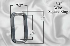 """10pcs - 3/4"""" Metal Square Ring - Nickel (SRG-100)"""