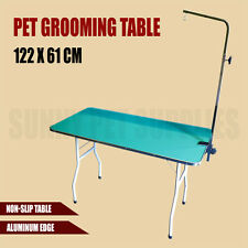 122cm x 61cm Pet Grooming Table Dog Cat Legs Arm Height Adjustable Bench Folding