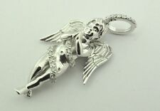 ANGEL PENDANT IN 10 KT WHITE GOLD WITH GENUINE DIAMONDS 0.56 CARATS SI/GH