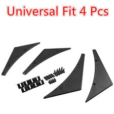 Fit Universal Front Bumper Lip Splitter Fins Body Spoiler Canards Valence Chin