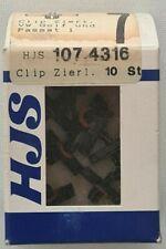 HJS 107.4316 Clip 10 Stück Zierleisten VW Golf und Passat 1