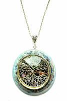 craft necklace Orgone Orgonite pendant Tree of Life, Amethyst, Lapis Lazuli,