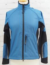 REI Full Zip Fitness Jacket Lined Running Top Womens S Blue/Black Wind Breaker