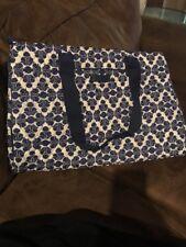 Vera Bradley Triple Compartment Travel Carry On Bag Cobalt Tile Blue NWT
