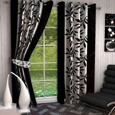 GoodLyf Beautiful Black Flower Door Curtain-1Pc