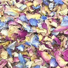 Biodegradable Pink Wedding CONFETTI Ivory Dried flutterfall Real ROSE Petals