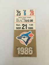 Roger Clemens Win #40 (24th of Year) 1986 9/21/86 Jays Red Sox Ticket Stub