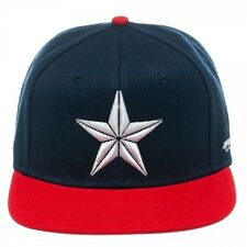 OFFICIAL MARVEL COMIC'S CAPTAIN AMERICA - STAR NAVY AND RED SNAPBACK CAP (NEW)