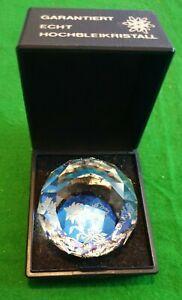 Vintage Crystal Glass Paperweight Garantiert Echt Hochbleikristall Edelweiss