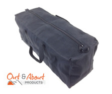 "Canvas Tool Bag Heavy Duty Carry Bag 18"" 46cm Duffel Duffle Camping Biker BLACK"
