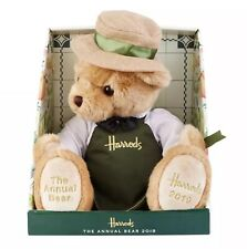 HARRODS 'GROCER' ANNUAL BEAR 2019 WITH FREE LGE HARRODS CARRIER BAG BNWT