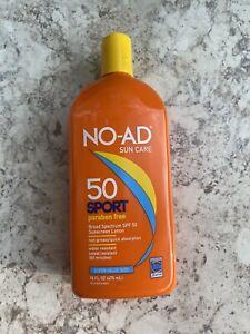 NO-ADSport SPF 50 Sunscreen Lotion 16 oz Paraben Free Exp. 2022
