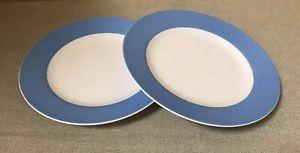 36 x MELAMINE PLATES WHITE BLUE BAND TRIM LUNCH SNACK KIDS TEA FATE JOBLOT 17cm