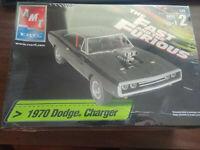NEW IN BOX MODEL AMT FAST & FURIOUS 1970 DODGE CHARGER MODEL KIT